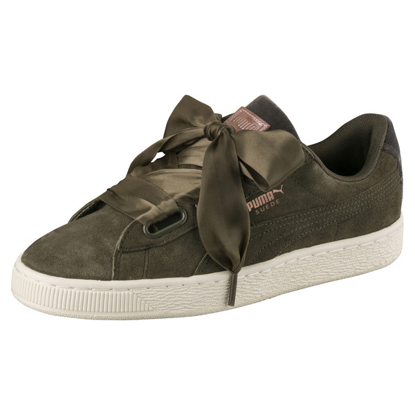 9a9889fac849f Suede Heart Velvet Rope Women's Trainers, Olive-Rose Gold-WhisperWhite,  large