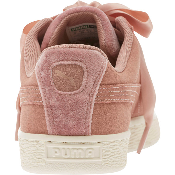 Suede Heart VR Women's Sneakers, Brown-Rose Gold-WhisperWhite, large