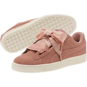 Thumbnail 2 of Suede Heart VR Women's Sneakers, Brown-Rose Gold-WhisperWhite, medium