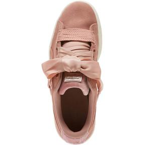 Thumbnail 5 of Suede Heart VR Women's Sneakers, Brown-Rose Gold-WhisperWhite, medium