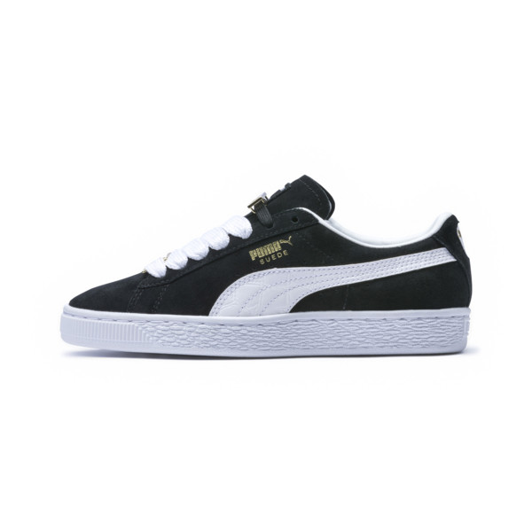 Suede Classic B-BOY Fabulous Kids' Trainers, Puma Black-Puma White, large