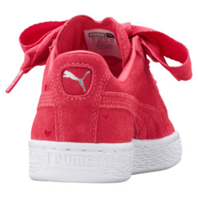 Thumbnail 4 of Suede Heart Valentine Sneakers JR, Paradise Pink-Paradise Pink, medium