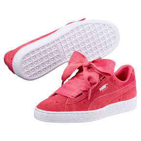 Thumbnail 2 of Suede Heart Valentine Sneakers JR, Paradise Pink-Paradise Pink, medium