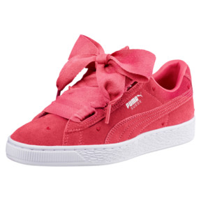 Thumbnail 1 of Suede Heart Valentine Sneakers JR, Paradise Pink-Paradise Pink, medium