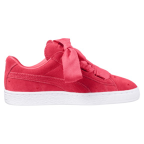 Thumbnail 3 of Suede Heart Valentine Sneakers JR, Paradise Pink-Paradise Pink, medium