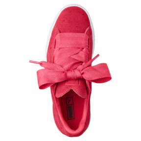 Thumbnail 5 of Suede Heart Valentine Sneakers JR, Paradise Pink-Paradise Pink, medium
