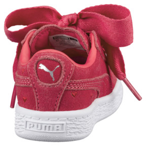 Thumbnail 4 of Suede Heart Valentine Little Kids' Shoes, Paradise Pink-Paradise Pink, medium