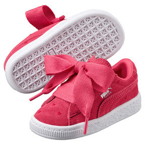 Thumbnail 2 of Suede Heart Valentine Little Kids' Shoes, Paradise Pink-Paradise Pink, medium