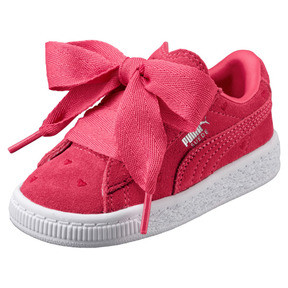 Thumbnail 1 of Suede Heart Valentine Girls' Sneakers, 01, medium