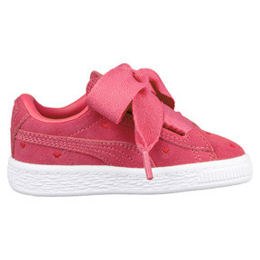 Thumbnail 3 of Suede Heart Valentine Little Kids' Shoes, Paradise Pink-Paradise Pink, medium