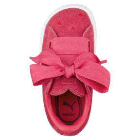 Thumbnail 5 of Suede Heart Valentine Little Kids' Shoes, Paradise Pink-Paradise Pink, medium