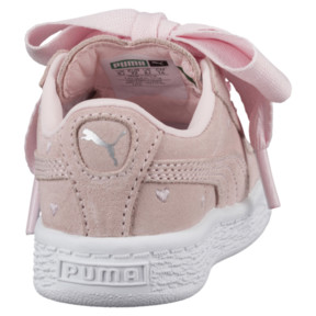 Thumbnail 4 of Suede Heart Valentine Infant Training Shoes, Pearl-Pearl, medium