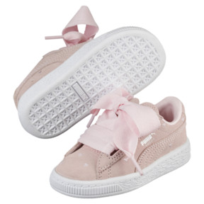 Thumbnail 2 of Suede Heart Valentine Infant Training Shoes, Pearl-Pearl, medium