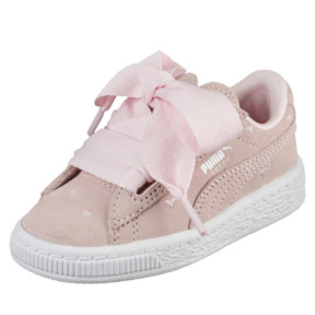 Thumbnail 1 of Suede Heart Valentine Infant Training Shoes, Pearl-Pearl, medium