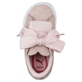 Thumbnail 5 of Suede Heart Valentine Infant Training Shoes, Pearl-Pearl, medium