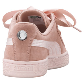 Thumbnail 4 of Suede Heart Jewel JR Sneakers, Peach Beige-Pearl, medium