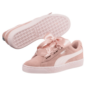 Thumbnail 2 of Suede Heart Jewel JR Sneakers, Peach Beige-Pearl, medium