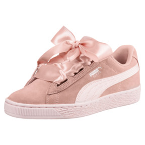Thumbnail 1 of Suede Heart Jewel JR Sneakers, Peach Beige-Pearl, medium