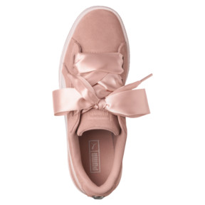 Thumbnail 5 of Suede Heart Jewel JR Sneakers, Peach Beige-Pearl, medium