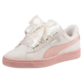 Thumbnail 1 of Suede Heart Jewel JR Sneakers, Whisper White-Peach Beige, medium