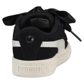 Thumbnail 4 of Suede Heart Jewel Little Kids' Shoes, Puma Black-Whisper White, medium