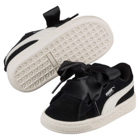 Thumbnail 2 of Suede Heart Jewel Little Kids' Shoes, Puma Black-Whisper White, medium