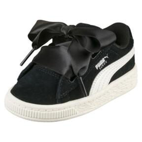 Thumbnail 1 of Suede Heart Jewel Little Kids' Shoes, Puma Black-Whisper White, medium