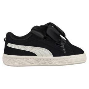 Thumbnail 3 of Suede Heart Jewel Little Kids' Shoes, Puma Black-Whisper White, medium
