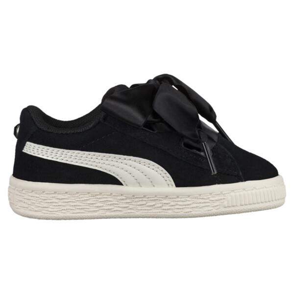 Suede Heart Jewel Little Kids' Shoes, Puma Black-Whisper White, large