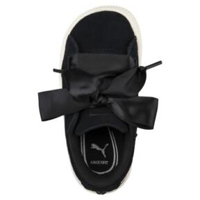 Thumbnail 5 of Suede Heart Jewel Little Kids' Shoes, Puma Black-Whisper White, medium