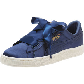 Thumbnail 1 of Basket Heart Tween JR Sneakers, Sargasso Sea-Sargasso Sea, medium