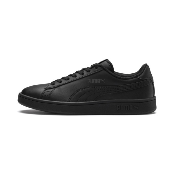 PUMA Smash v2 Youth Sneaker, Puma Black-Puma Black, large
