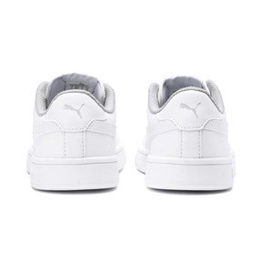 Miniatura 3 de Zapatos deportivos PUMA Smash v2 de cuero JR, Puma White-Puma White, mediano