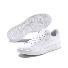 Miniatura 2 de Zapatos deportivos PUMA Smash v2 de cuero JR, Puma White-Puma White, mediano