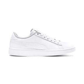 Miniatura 5 de Zapatos deportivos PUMA Smash v2 de cuero JR, Puma White-Puma White, mediano