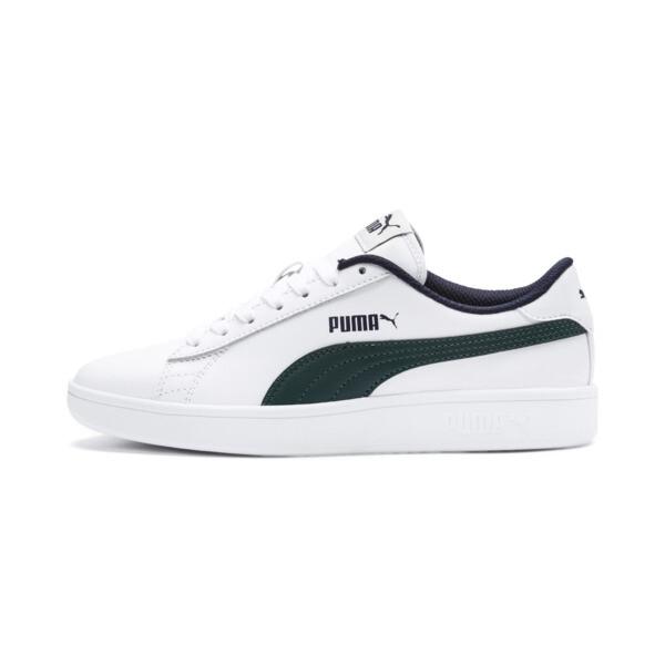 Basket Puma Smash v2 Youth, Puma White-Ponderosa Pine, large