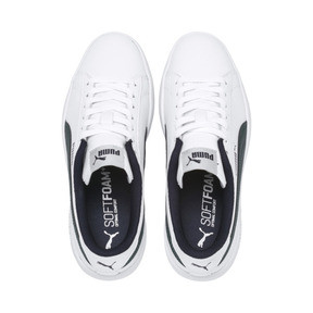 Thumbnail 6 of PUMA Smash v2 Youth Sneaker, Puma White-Ponderosa Pine, medium