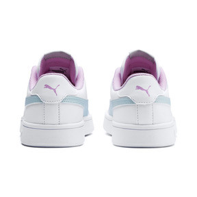 Thumbnail 3 of Puma Smash v2 Youth Trainers, White-Fair Aqua-Pale Pink, medium