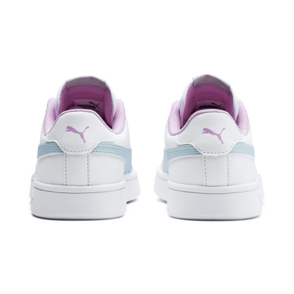 Puma Smash v2 Youth Trainers, White-Fair Aqua-Pale Pink, large