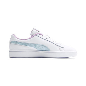 Thumbnail 5 of Puma Smash v2 Youth Trainers, White-Fair Aqua-Pale Pink, medium