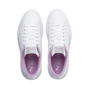 Thumbnail 6 of Puma Smash v2 Youth Trainers, White-Fair Aqua-Pale Pink, medium