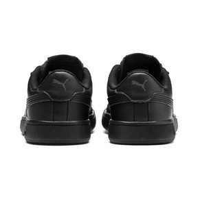 Thumbnail 3 of Smash v2 Leather Kids' Trainers, Puma Black-Puma Black, medium