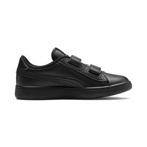 Thumbnail 5 of Smash v2 Leather Kids' Trainers, Puma Black-Puma Black, medium
