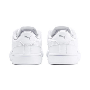 Thumbnail 3 of Smash v2 Leather Kids' Trainers, Puma White-Puma White, medium