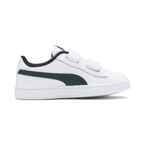 Thumbnail 5 of Smash v2 Leather Kids' Trainers, Puma White-Ponderosa Pine, medium