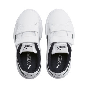 Thumbnail 6 of Smash v2 Leather Kids' Trainers, Puma White-Ponderosa Pine, medium
