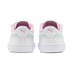 Thumbnail 3 of Smash v2 Leather Kids' Trainers, White-Fair Aqua-Pale Pink, medium