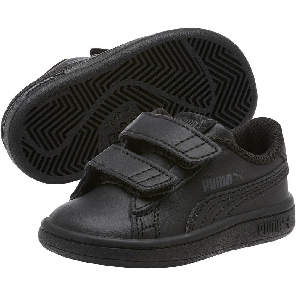 Image PUMA Smash v2 Leather Baby Trainers #2