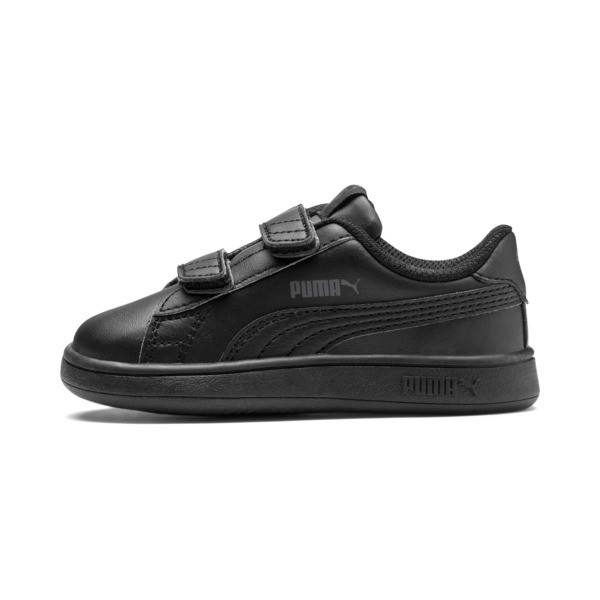 Smash v2 Kids' Trainers, Puma Black-Puma Black, large