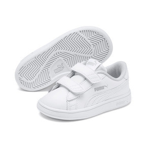 Thumbnail 2 of Smash v2 Kids' Trainers, Puma White-Puma White, medium